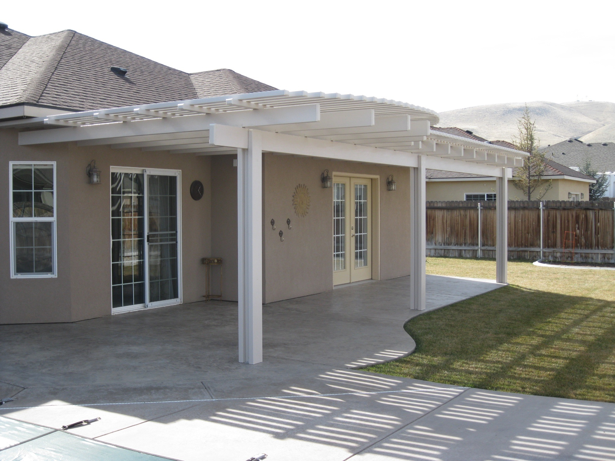 Custom White Pergola Richland, WA