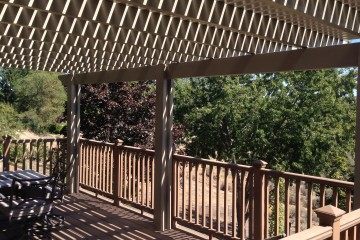 Wood patio and pergola