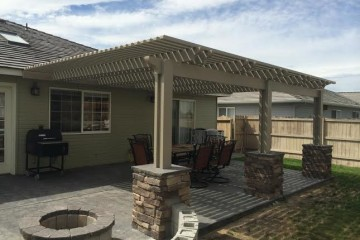 Tan Latticed Pergola in Richland, WA