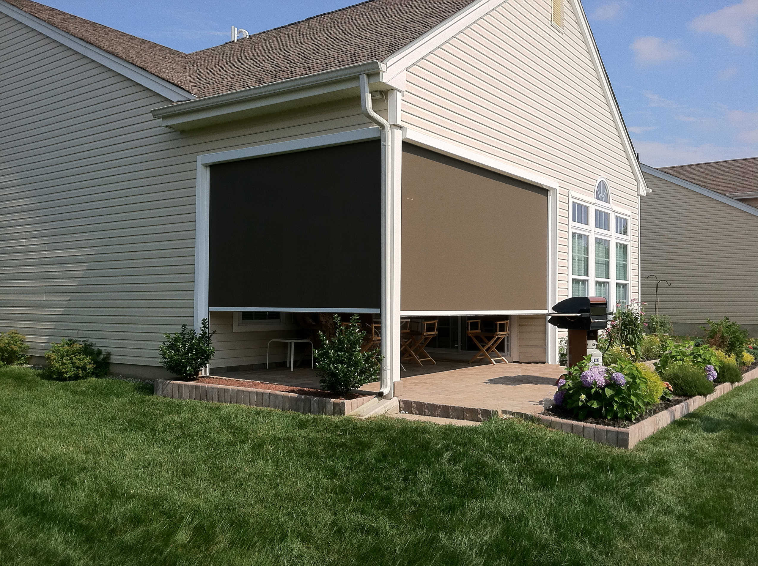 Solar Drop Screens Patio Covers Unlimited Nw Tri