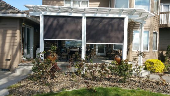 Solar drop screen and pergola Kennewick
